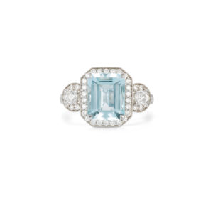Aquamarine & Diamond Ring - LAMB2053