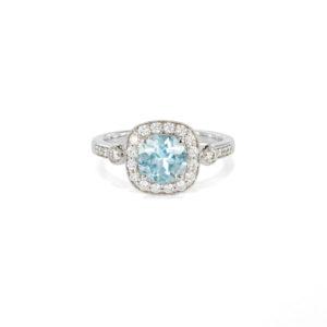 Aquamarine & Diamond Ring - LAMB2282
