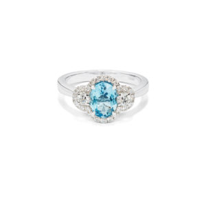 Aquamarine & Diamond Ring - LAMB2514