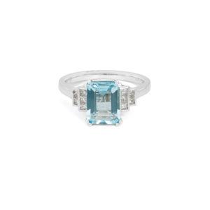 Aquamarine & Diamond Ring - LAMB2586